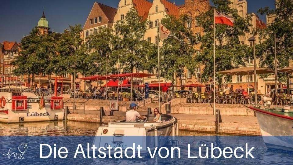 Das Bild zeigt die Trave in der Lübecker Altstadt