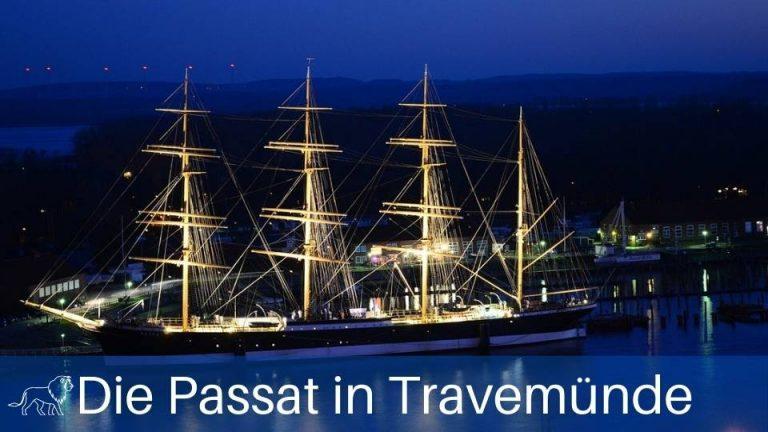 Das Bild zeigt das Segelschiff Passat im Hafen von Travemünde