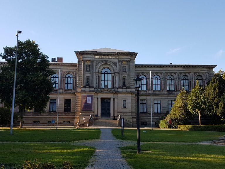Das Bild zeigt die Herzog August Bibliothek in Wolfenbüttel