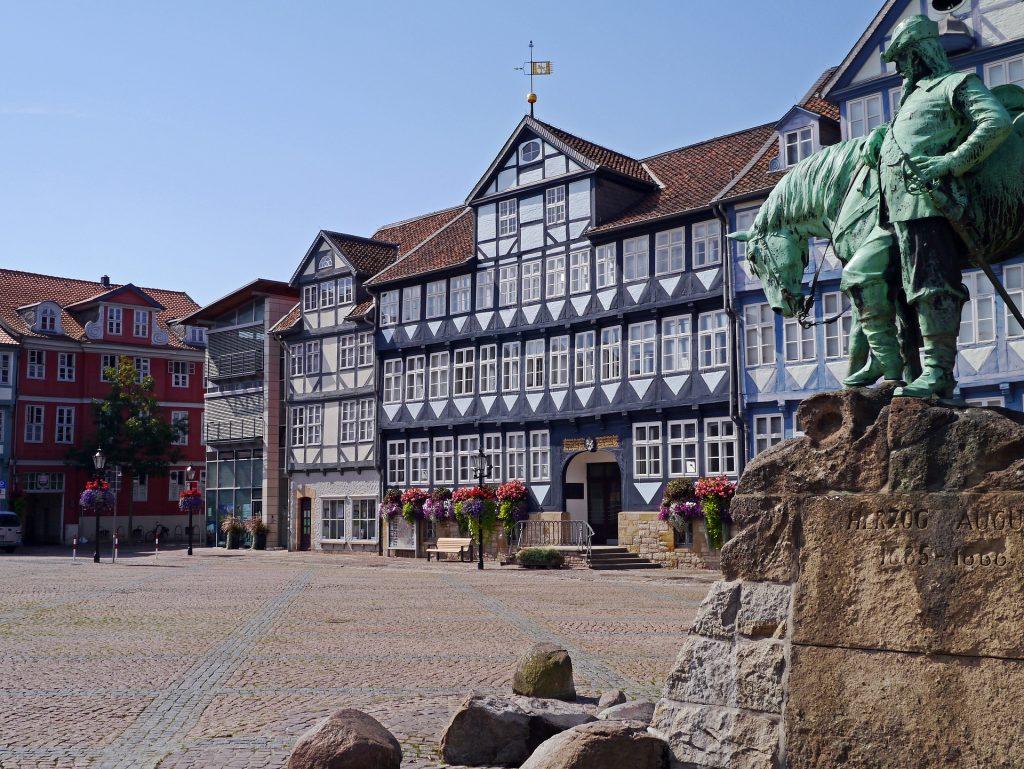 Das Bild zeigt das Rathaus von Wolfenbüttel