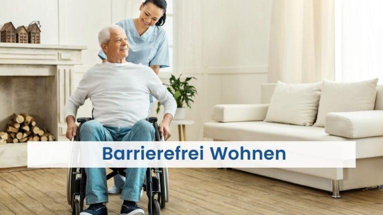 Das Bild zeigt einen Mann im Rollstuhl in einer barrierefreien Wohnung