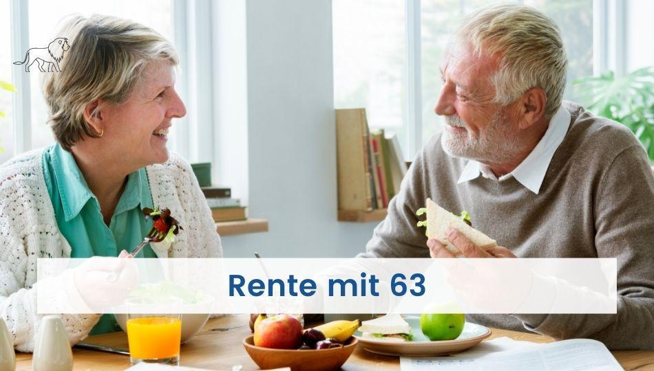 Ehepaar spricht über den Ratgeber Rente mit 63