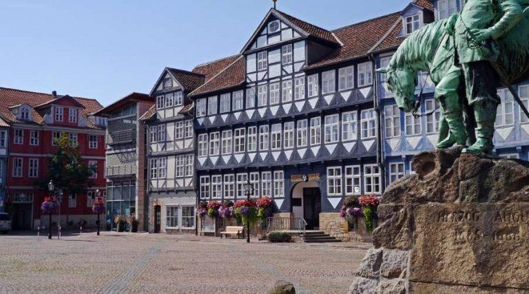 Der Marktplatz von Wolfenbuettel