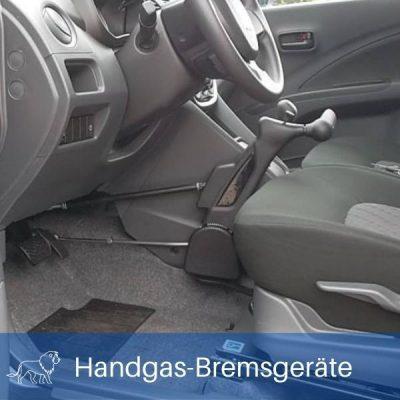 Das Bild zeigt ein Handgas Bremsgerät als Fahrhilfe im Auto für Menschen mit Behinderung